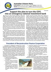 Support the plan to turn the CEFC into an emergency national investment bank